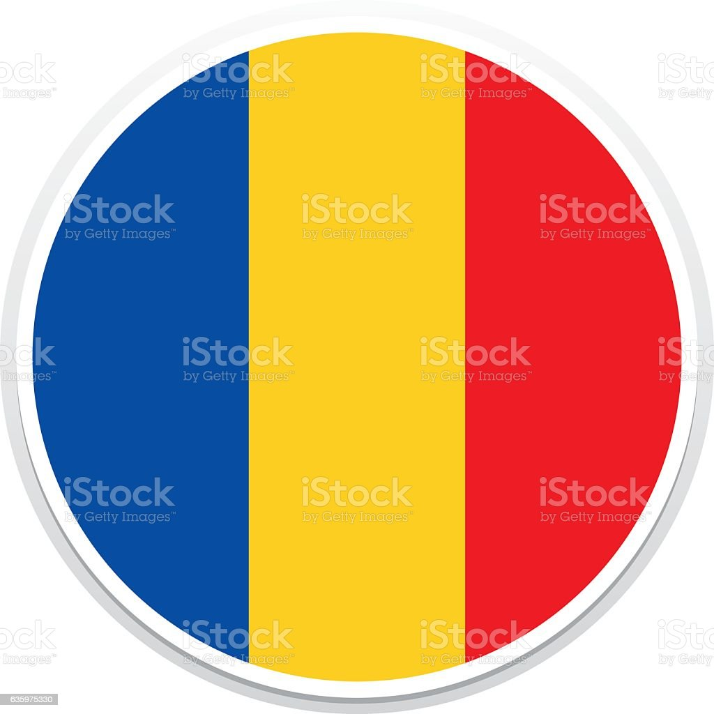Flag Romania vector art illustration