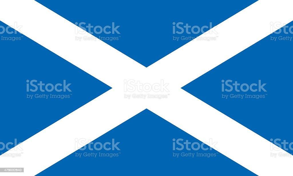 Flag Scotland vector art illustration