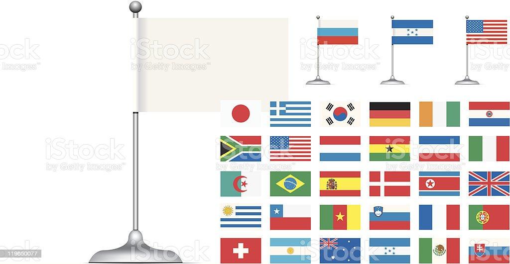 Flag set on white background royalty-free stock vector art