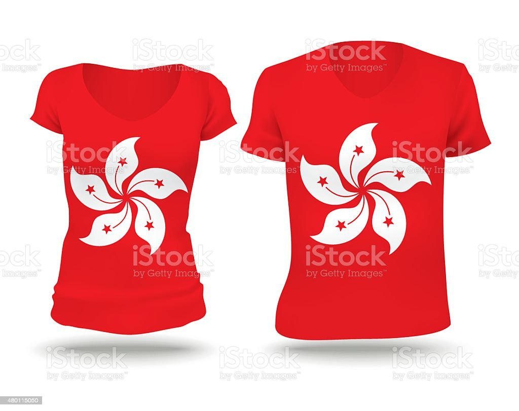 T shirt design hong kong - Flag Shirt Design Of Hong Kong Royalty Free Stock Vector Art