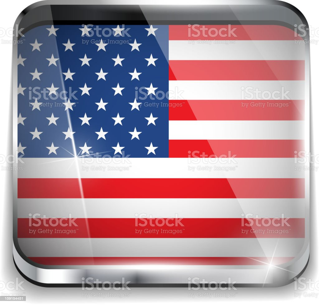 USA Flag Smartphone Application Square Buttons royalty-free stock vector art