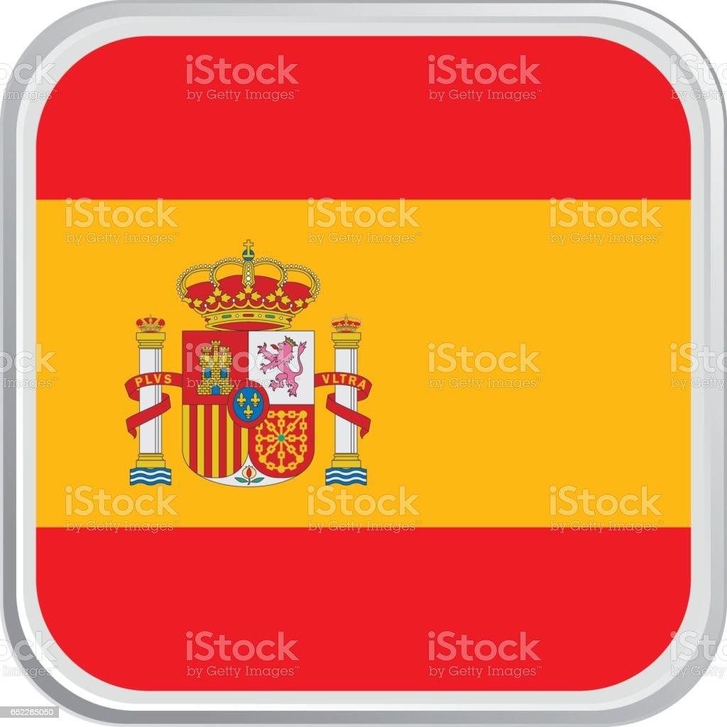 Flag Spain vector art illustration