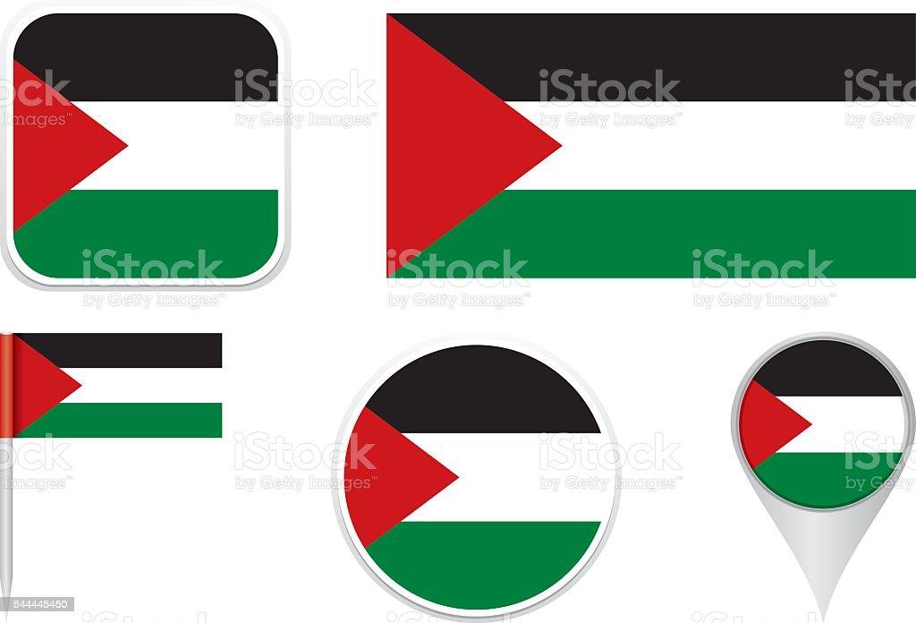 Flag State of Palestine vector art illustration