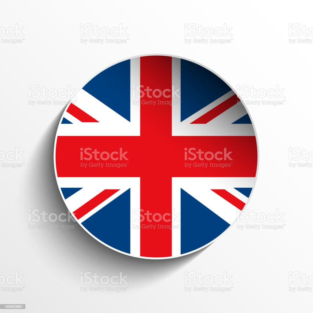 UK Flag Sticker Button royalty-free stock vector art