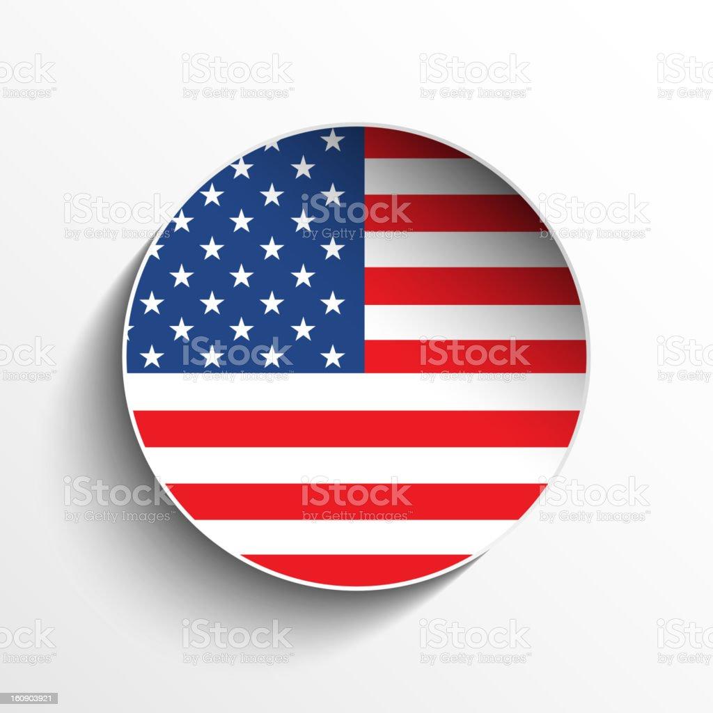 USA Flag Sticker Button royalty-free stock vector art