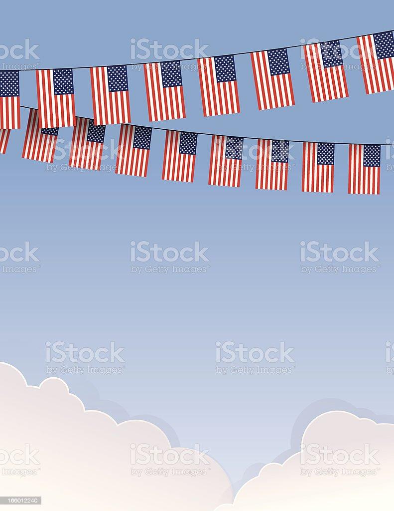 USA Flag String royalty-free stock vector art