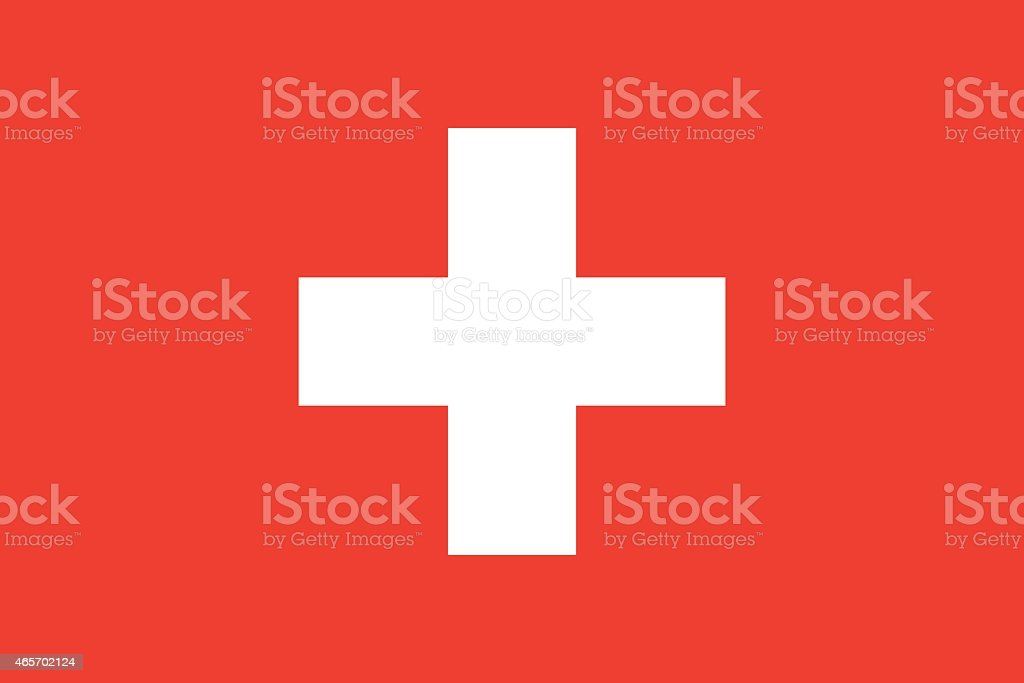 Flag Switzerland vector art illustration