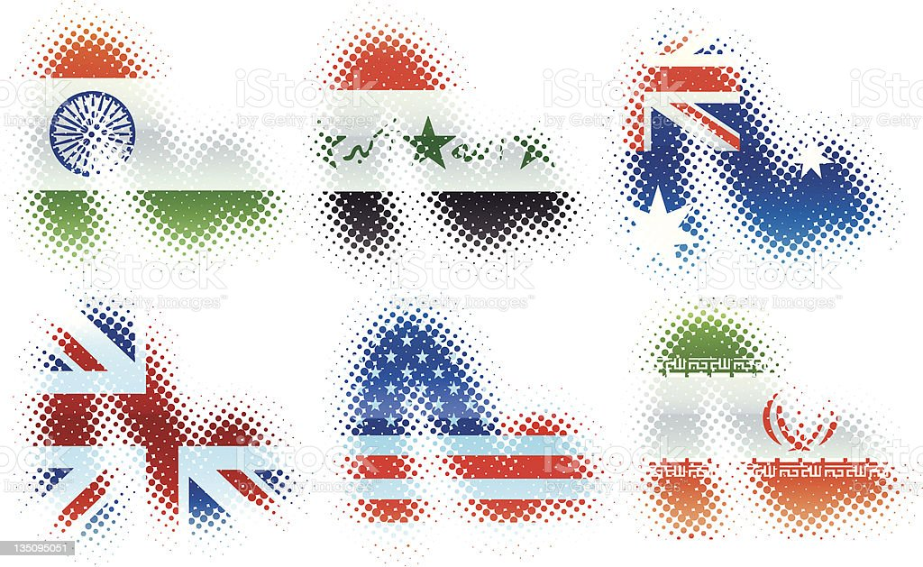 Flag swooshes royalty-free stock vector art