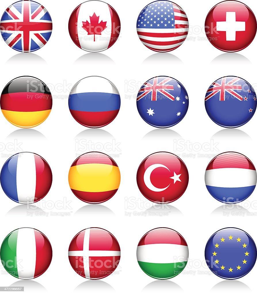 Flag symbols vector art illustration