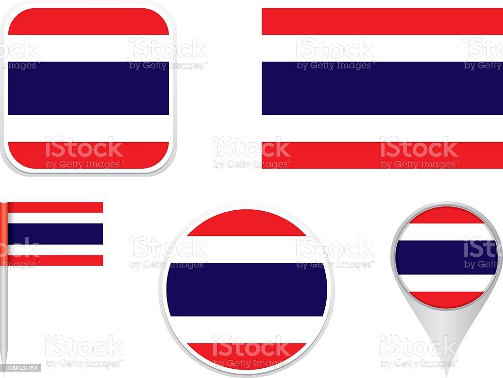 Flag Thailand vector art illustration