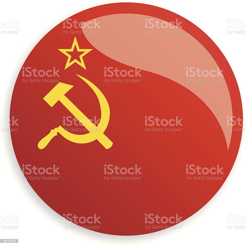 Flag The Union of Soviet Socialist Republics vector art illustration
