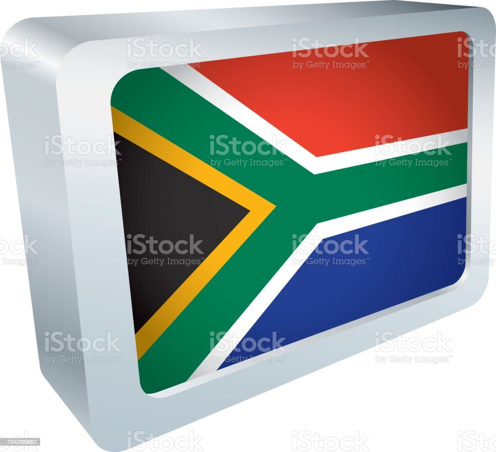 Flag Tile - South Africa royalty-free stock vector art