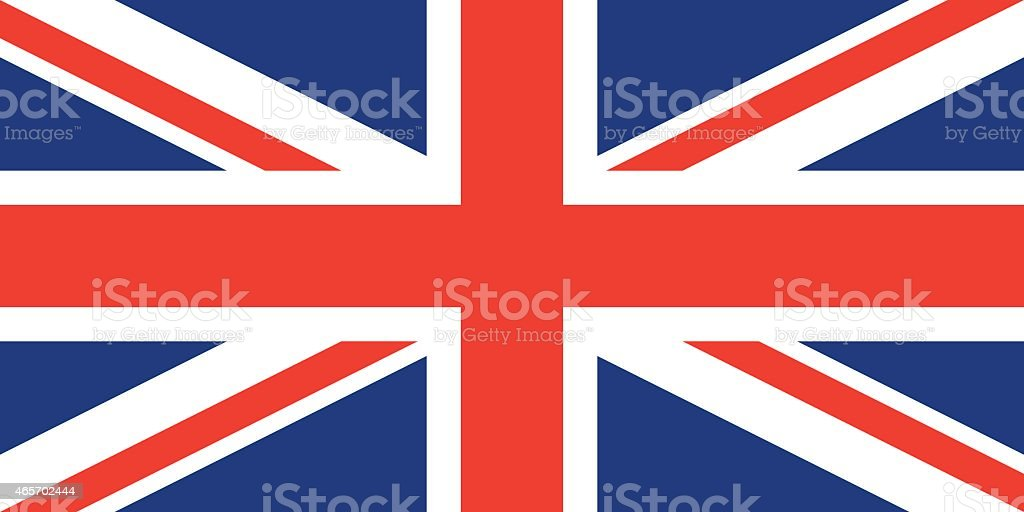 Flag United Kingdom vector art illustration