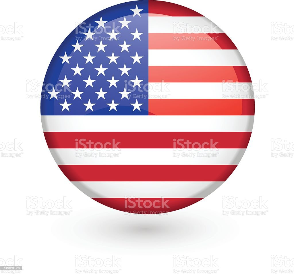 US flag vector button vector art illustration