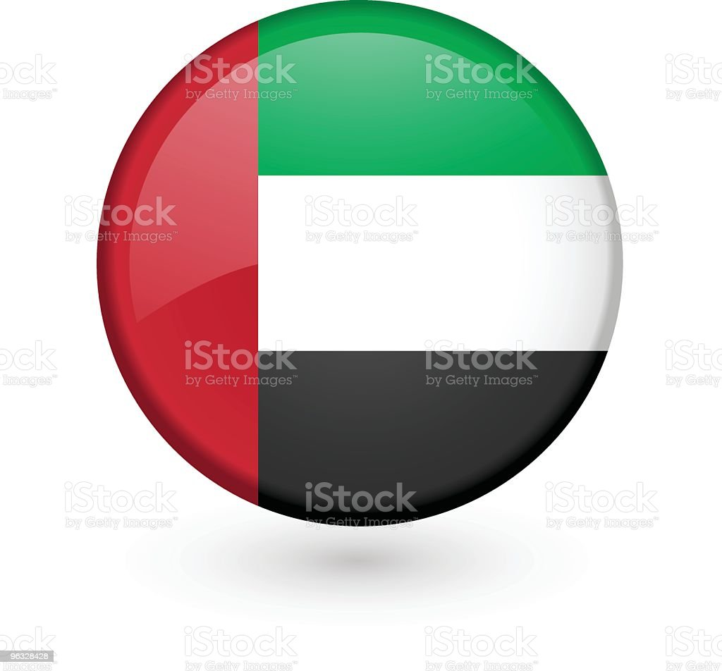 UAE flag vector button royalty-free stock vector art