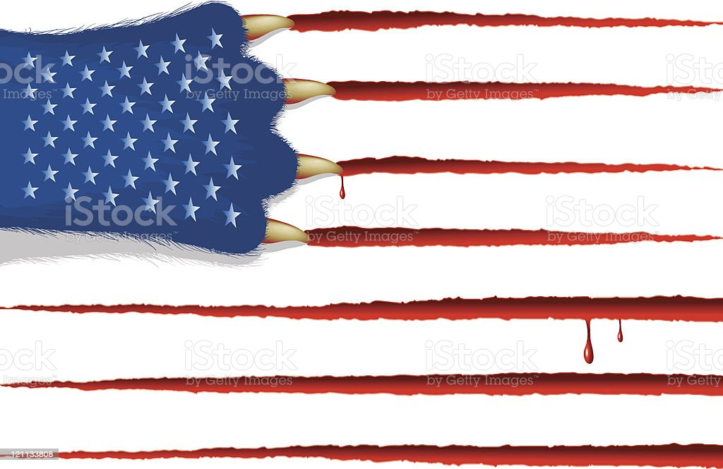 USA flag (CMYK eps8) royalty-free stock vector art