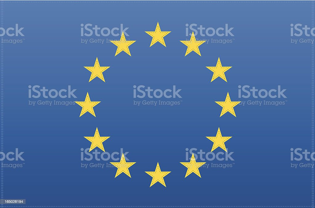 EU Flag (Vector) vector art illustration