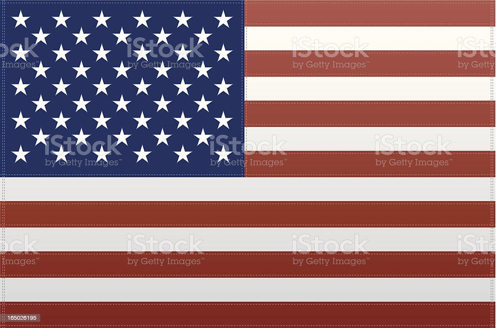USA Flag (Vector) royalty-free stock vector art