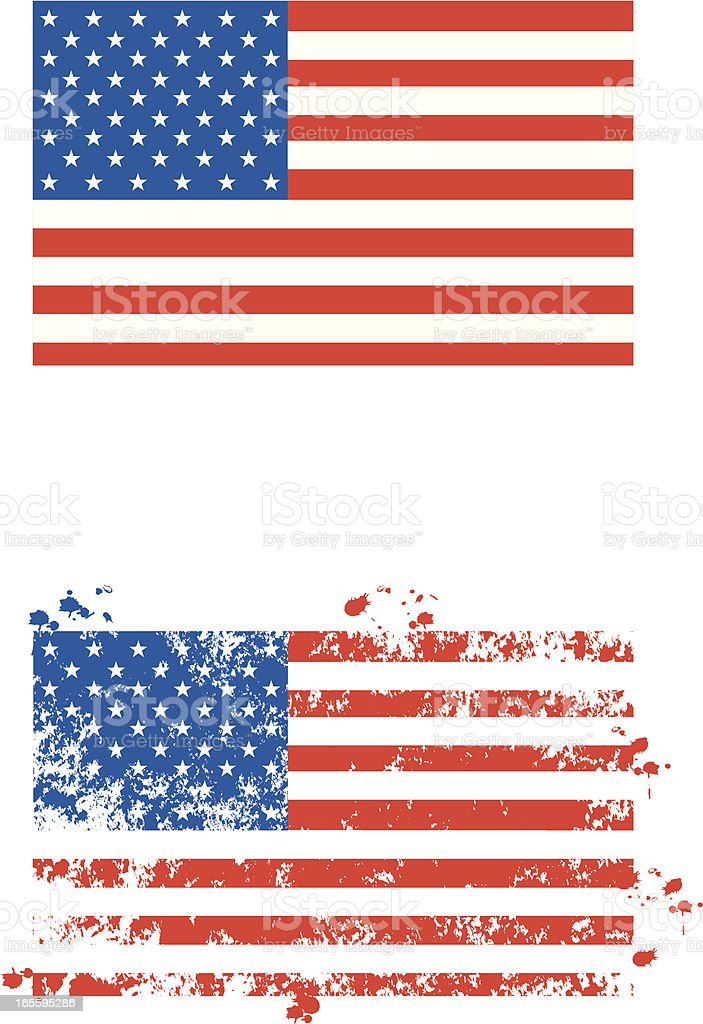 US Flag royalty-free stock vector art