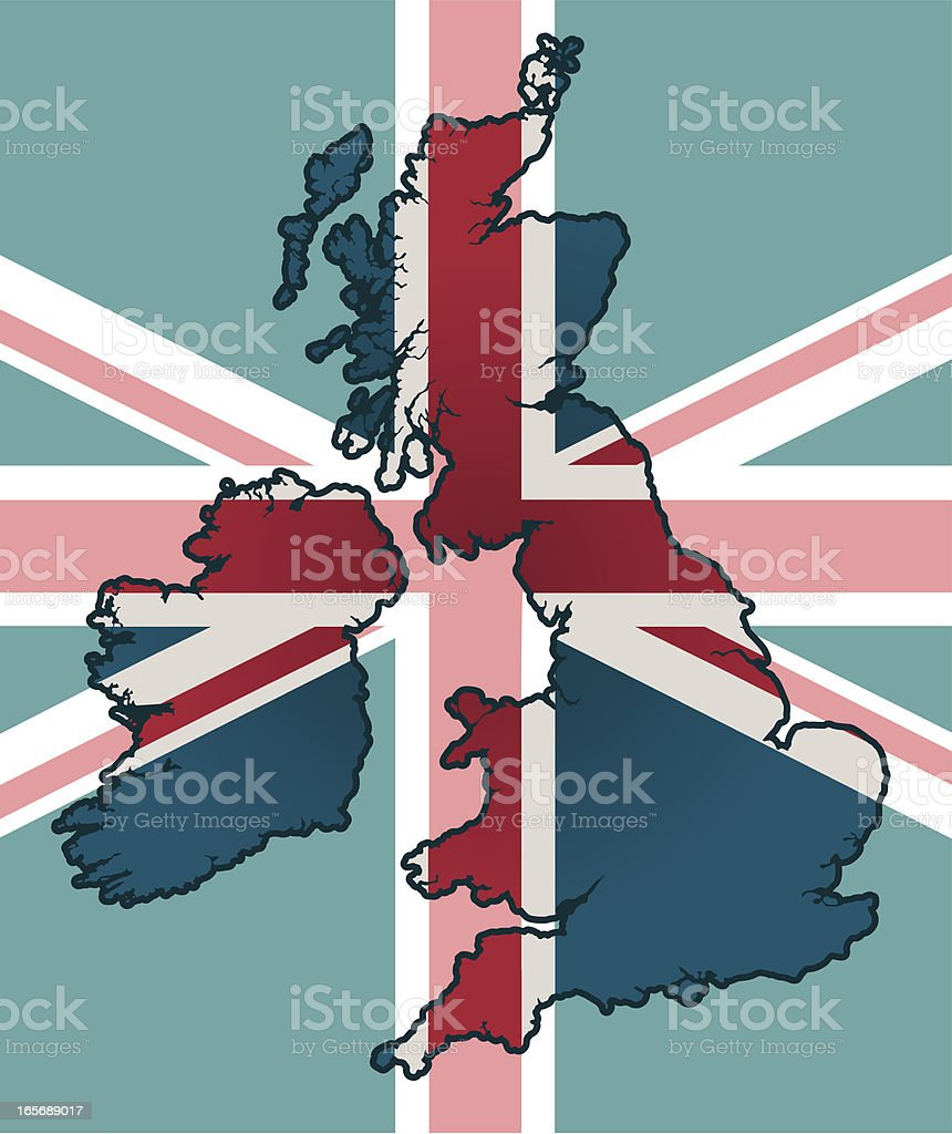 UK flag royalty-free stock vector art