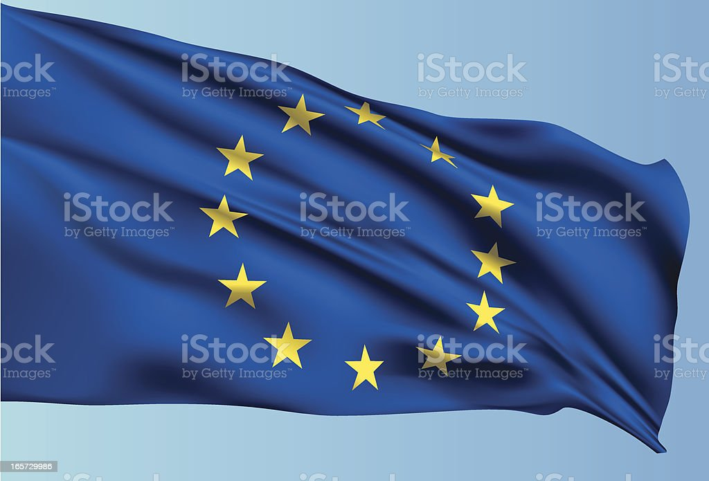 EU Flag royalty-free stock vector art