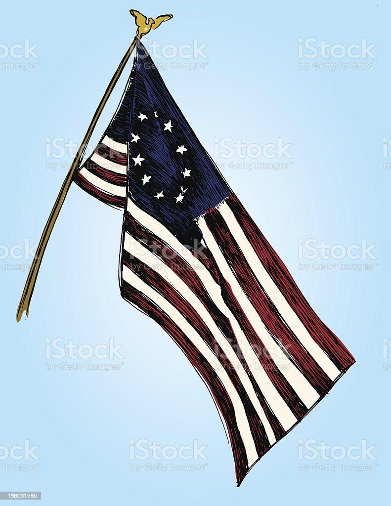US Flag vector art illustration