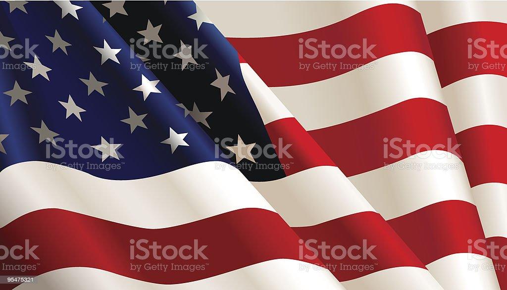 USA flag. royalty-free stock vector art