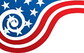 USA Flag With Spiral Wave