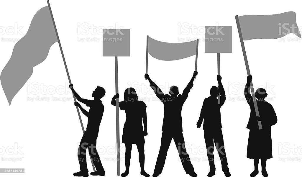 Flags and Banners vector art illustration