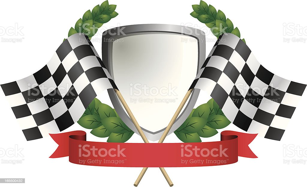Flags and Shield royalty-free stock vector art
