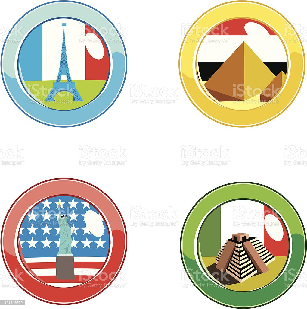 Flags button royalty-free stock vector art