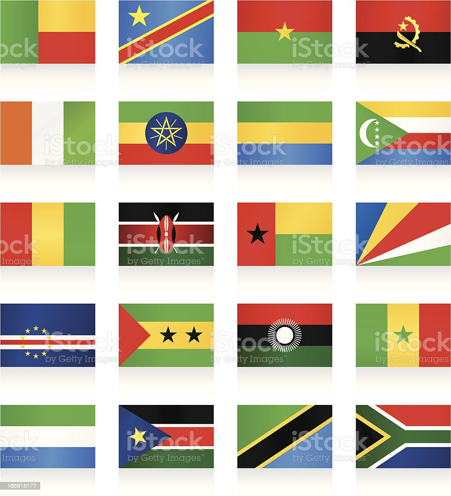 Flags collection - Africa royalty-free stock vector art