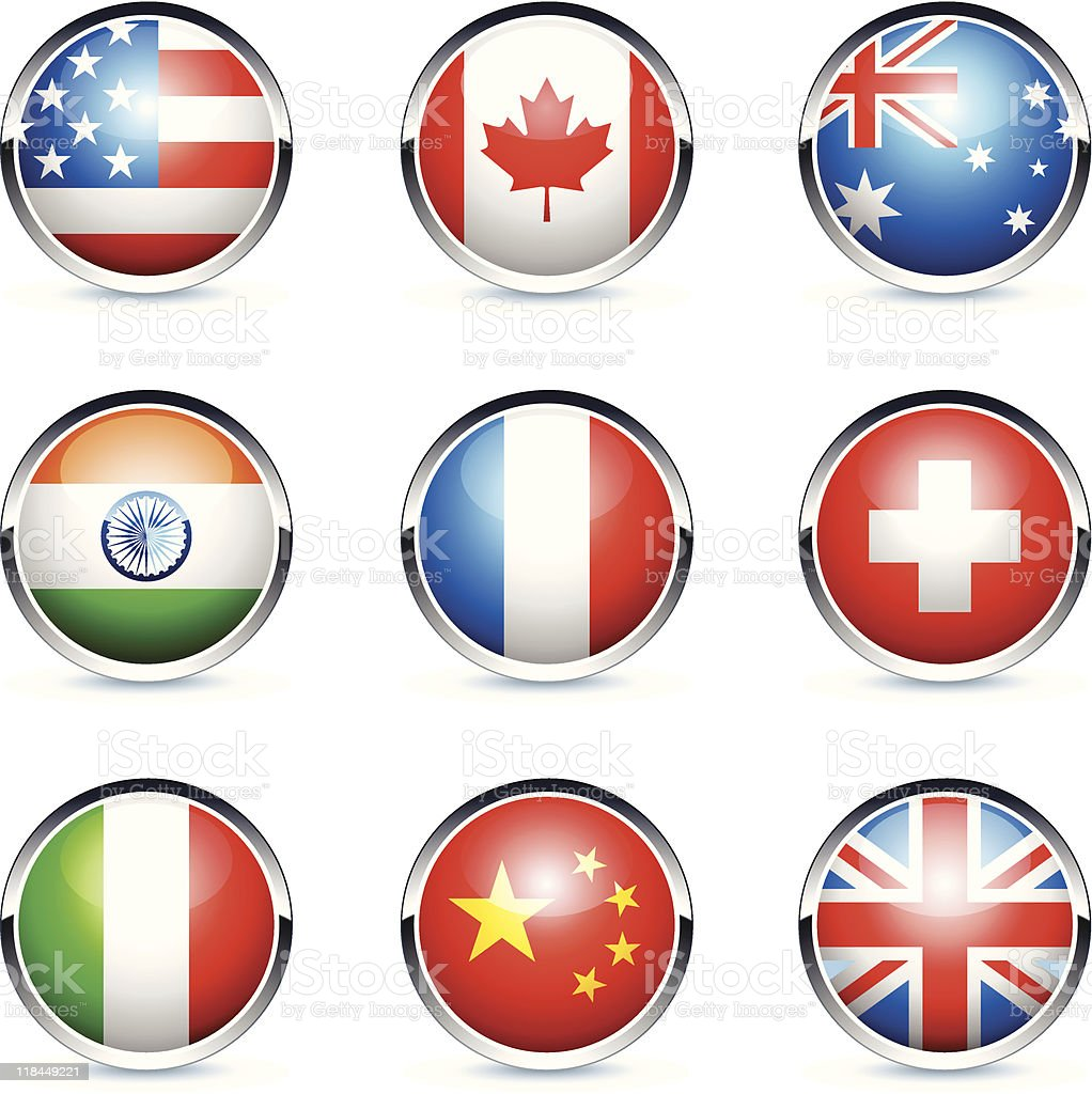 Flags icon royalty-free stock vector art