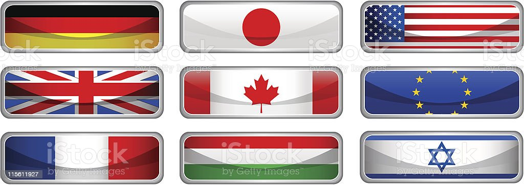 Flags Icons royalty-free stock vector art