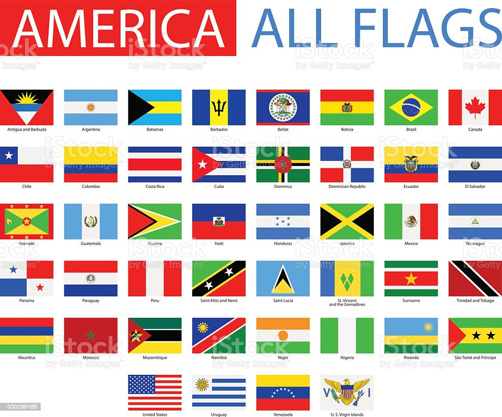 Flags of America - Full Vector Collection vector art illustration
