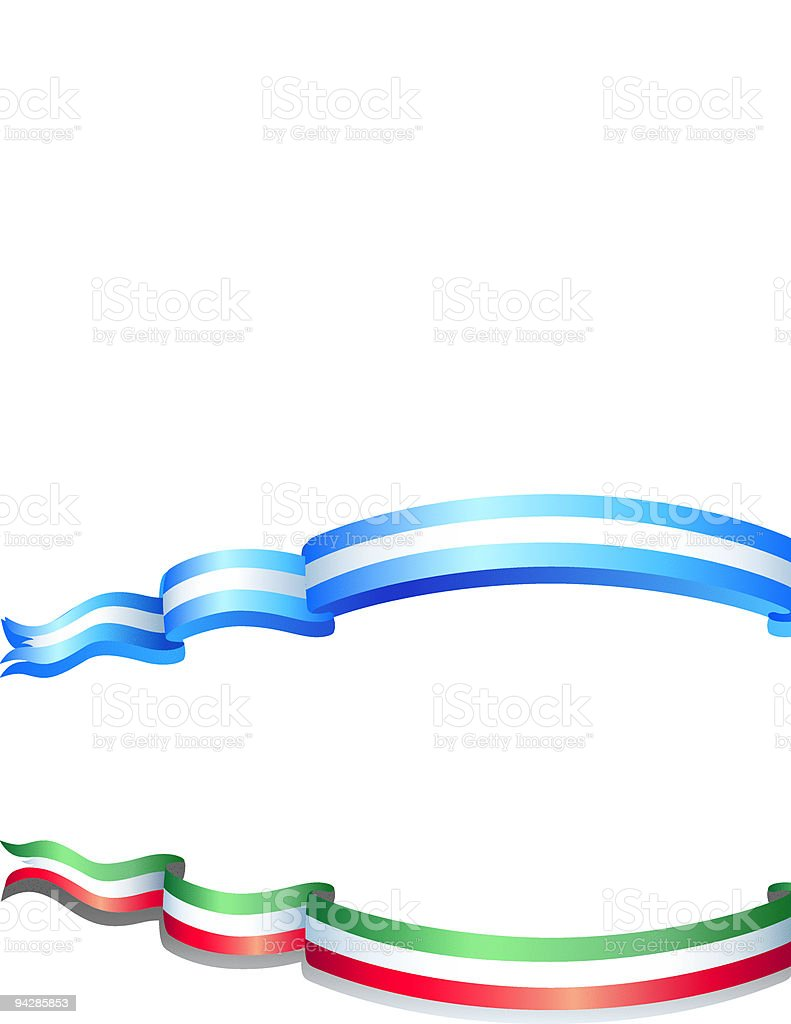Flags of argentina and italy royalty-free stock vector art