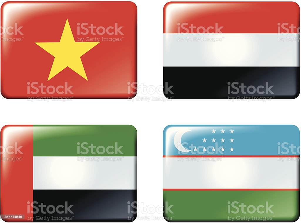 Flags of Asia. royalty-free stock vector art