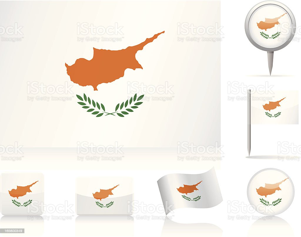 Flags of Cyprus - icon set royalty-free stock vector art