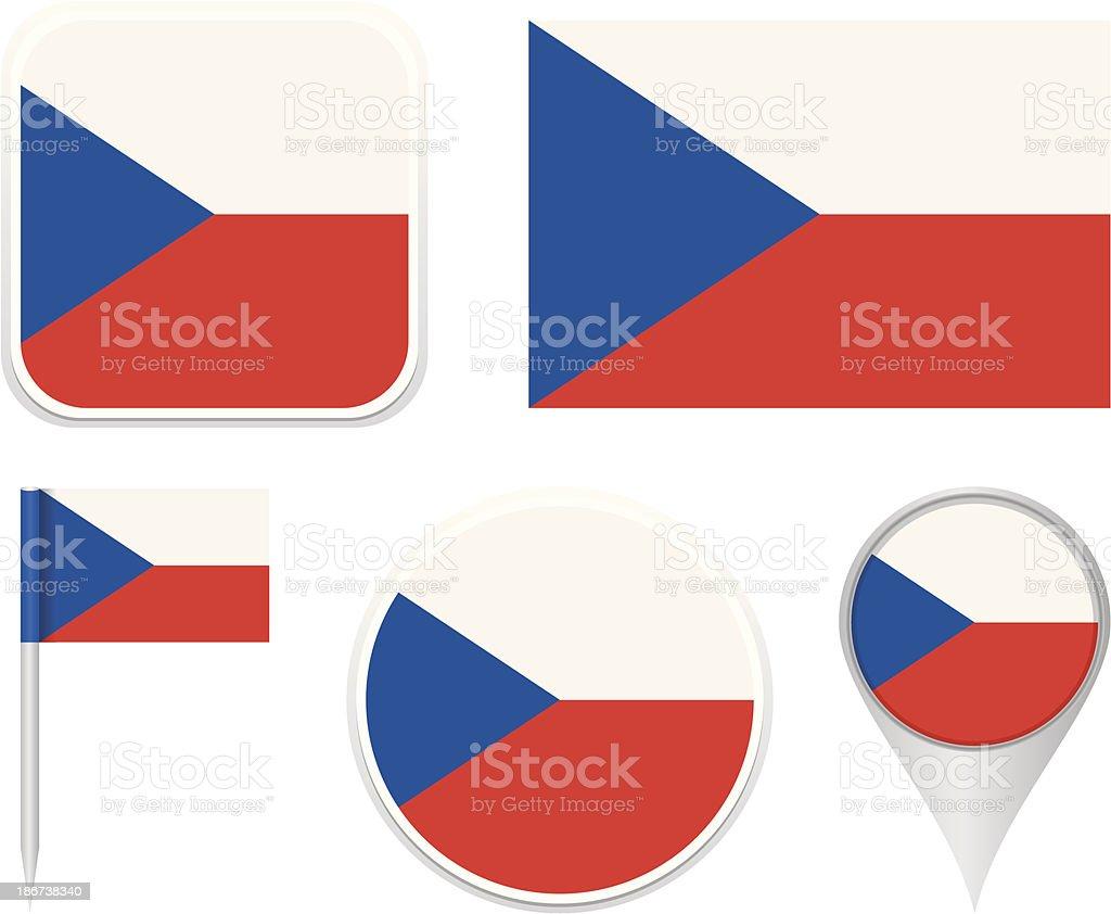 Flags of Czech Republic royalty-free stock vector art