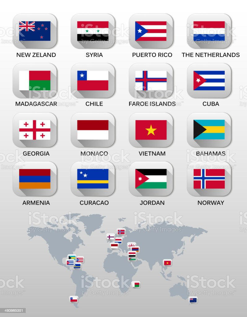 Flags of different countries. Vector. royalty-free stock vector art