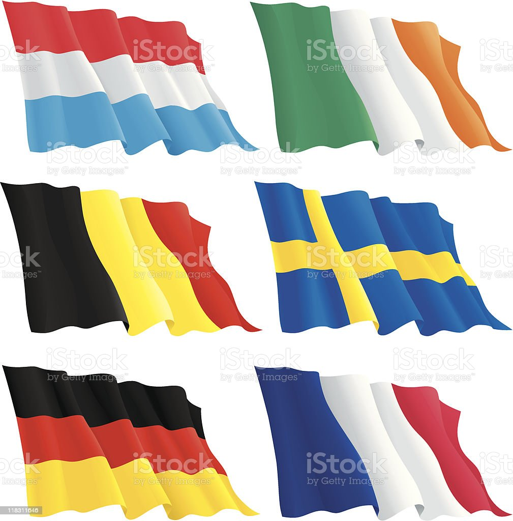 flags of Europen countries royalty-free stock vector art