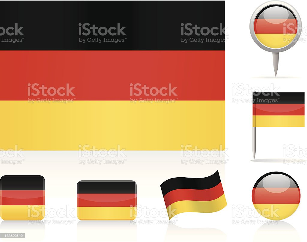 Flags of Germany vector art illustration