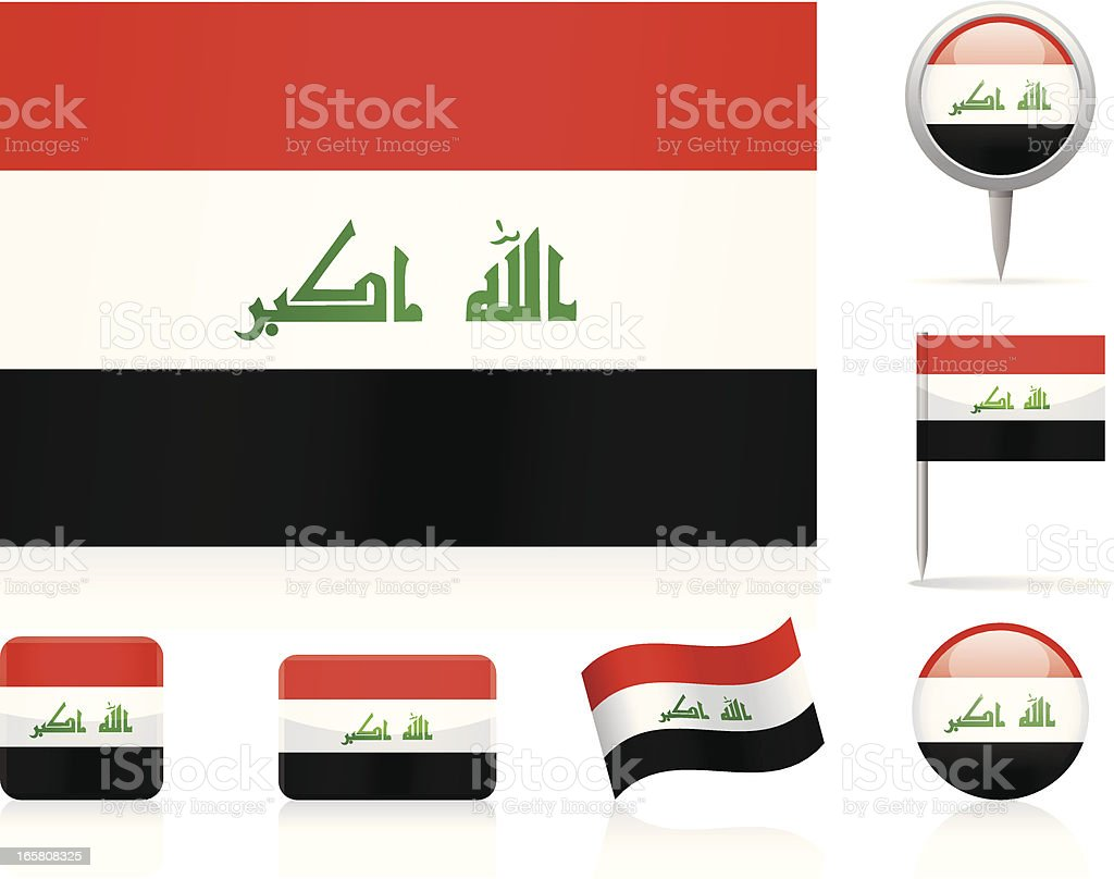 Flags of Iraq - icon set royalty-free stock vector art