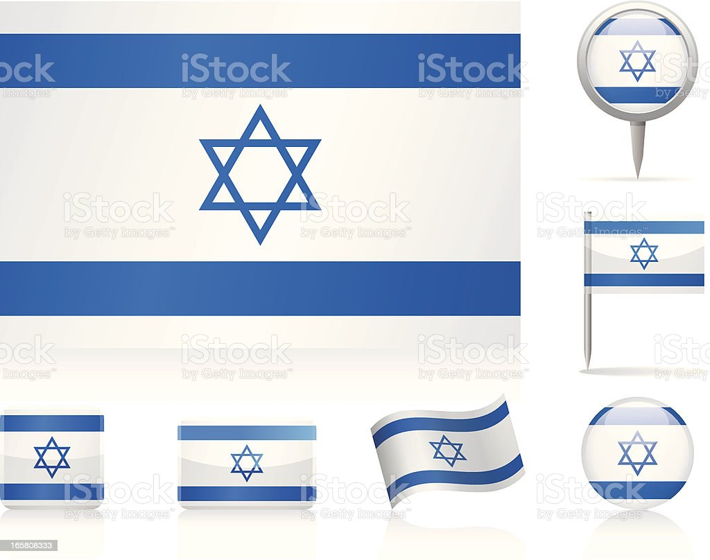 Flags of Israel - icon set royalty-free stock vector art