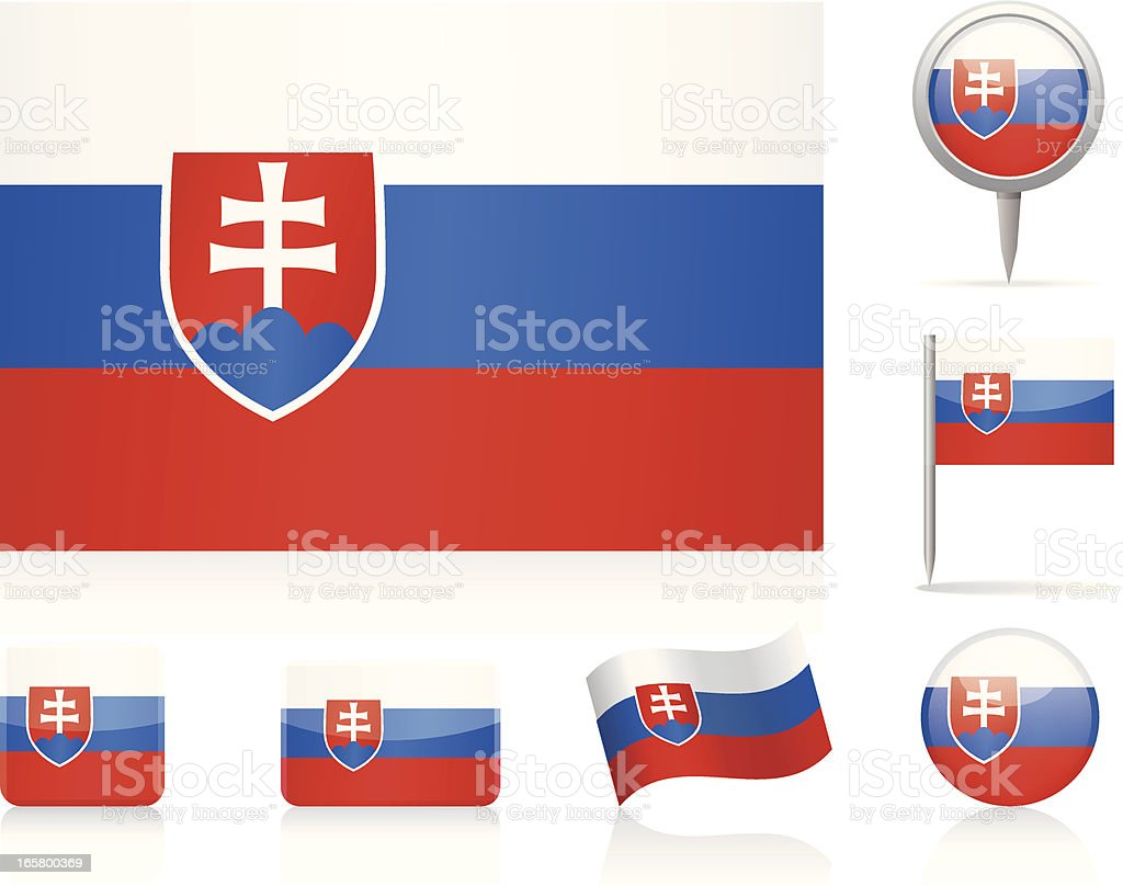 Flags of Slovakia - icon set royalty-free stock vector art
