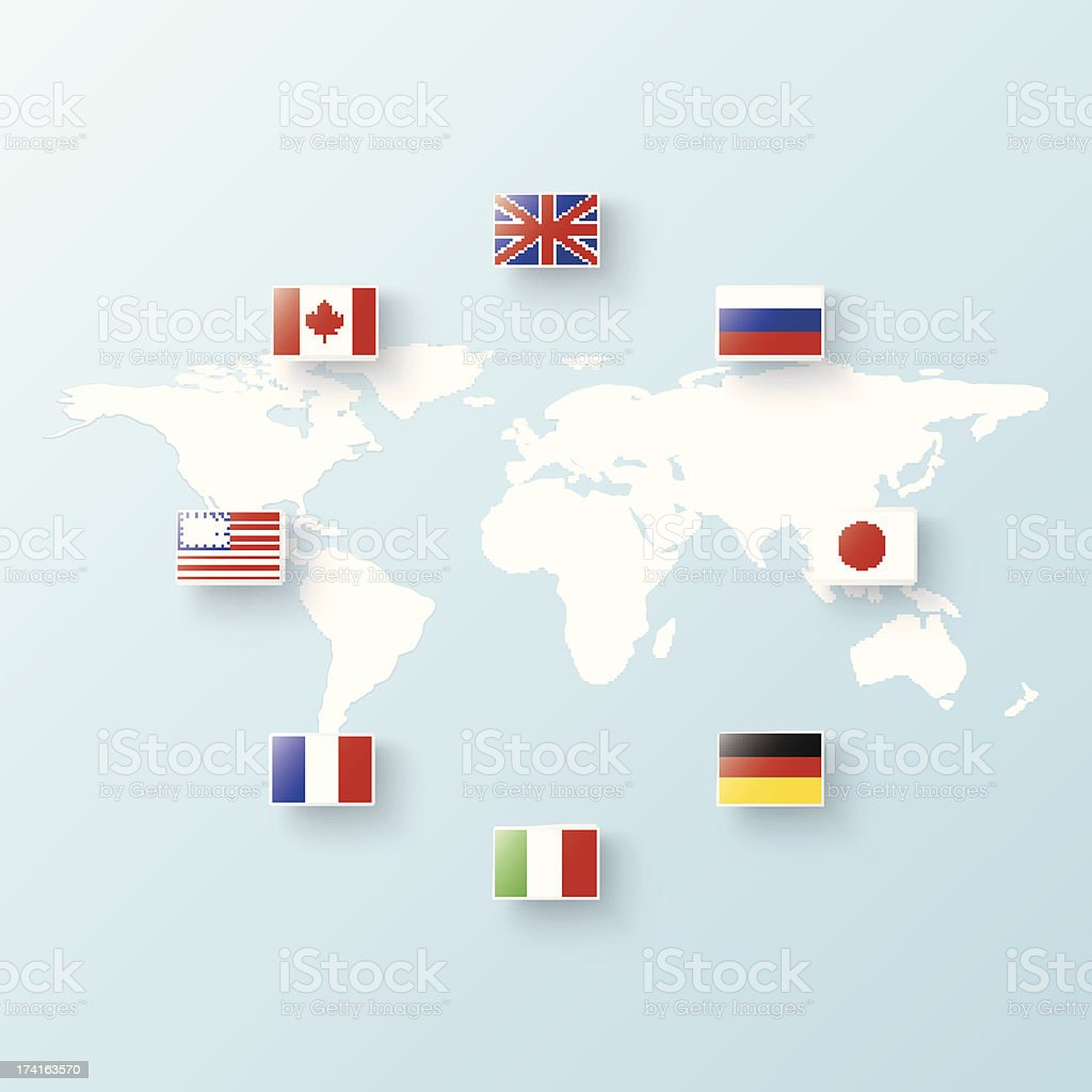 flags of States royalty-free stock vector art