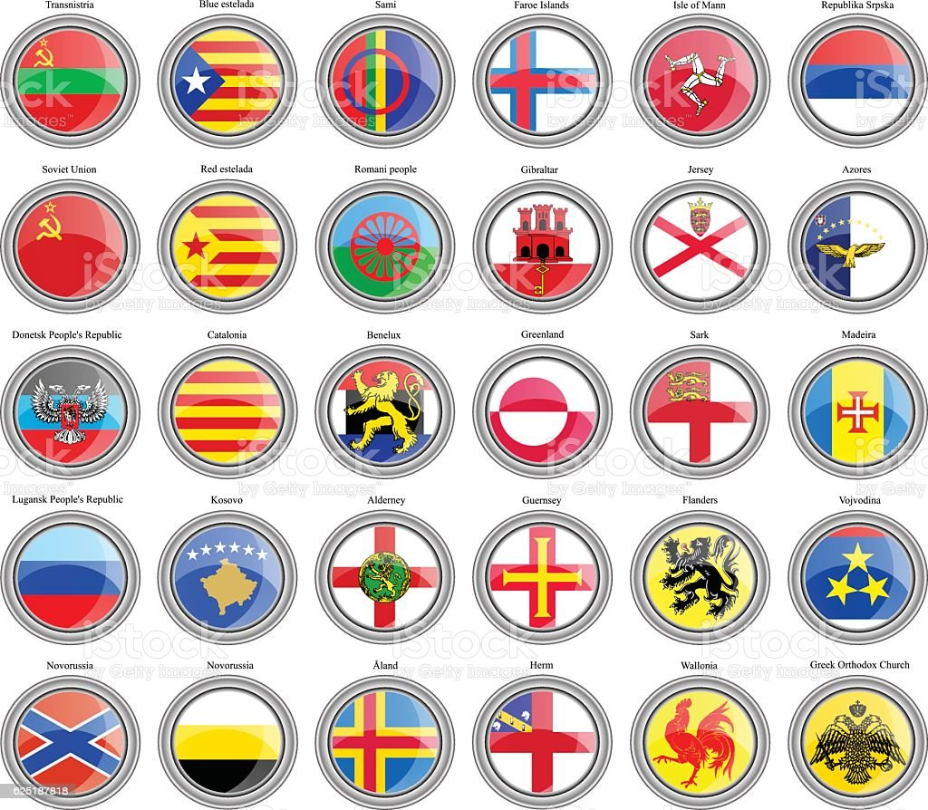 Flags of the Europe. vector art illustration