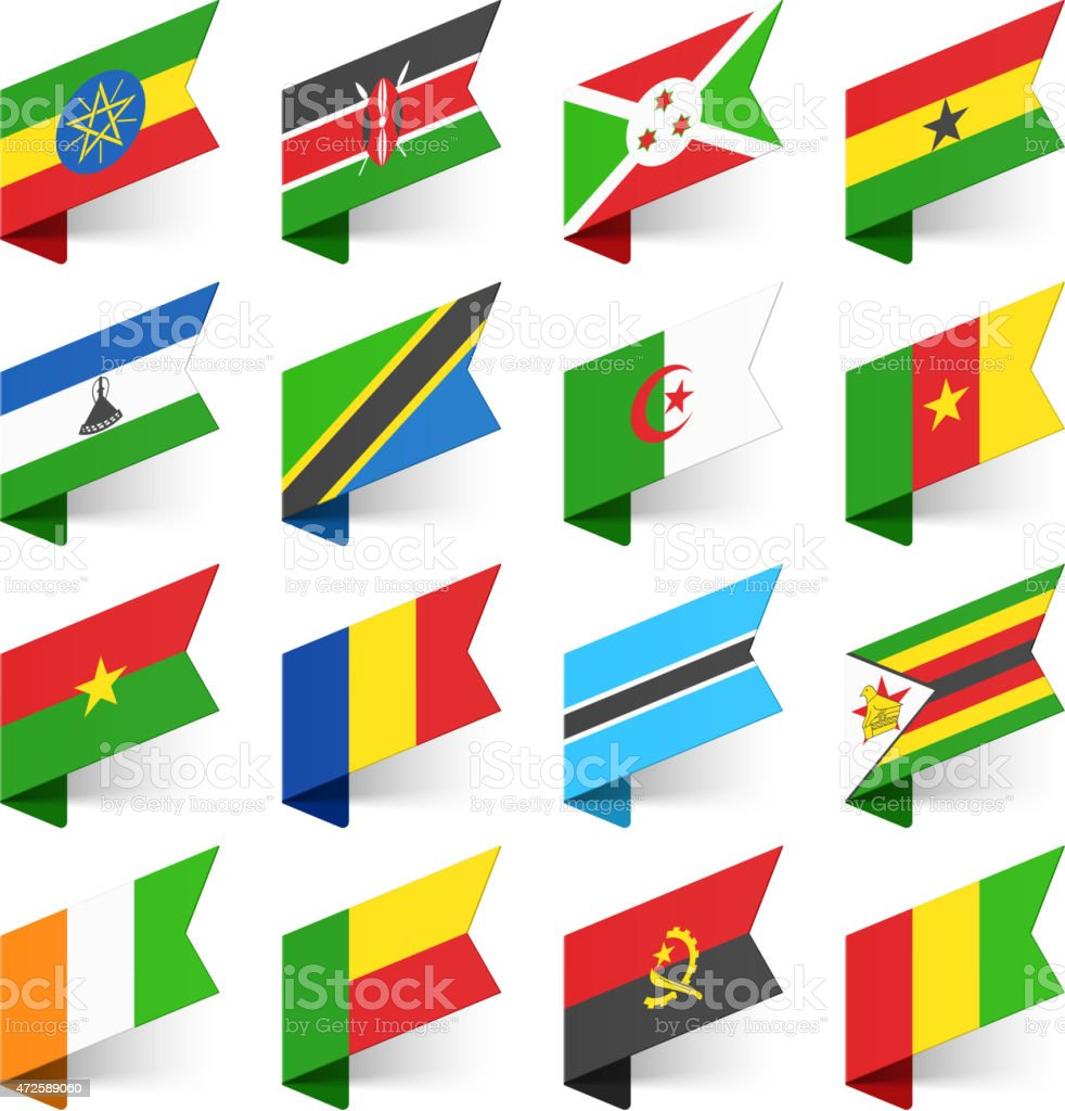Flags of the World, Africa. vector art illustration