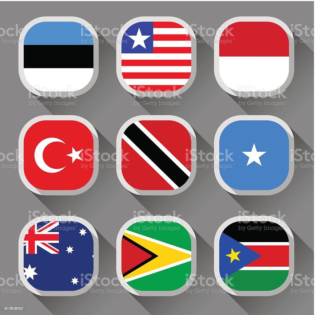 Флаги the world векторная иллюстрация
