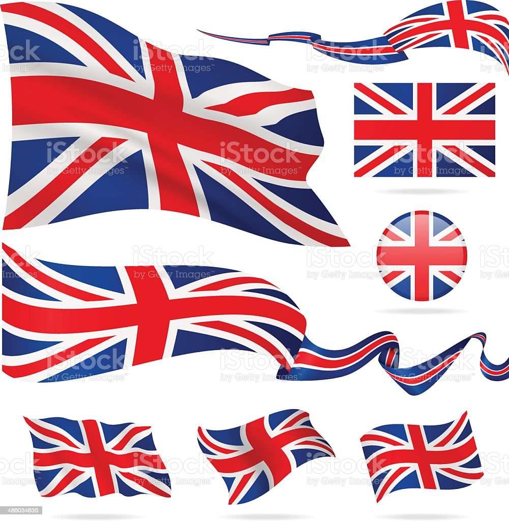 Flags of United Kingdom - icon set - Illustration vector art illustration